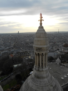 The view from the dome of Sacre Coeur in Montmartre.