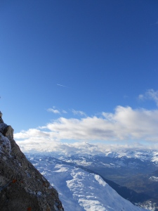 The view from the top of the French Alps!