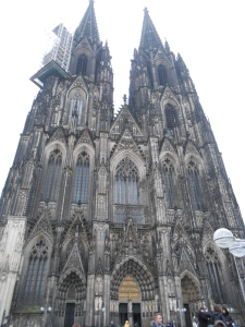Huge cathedral in Cologne, where I switched trains en route to Imke!