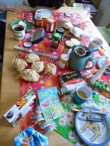 The birthday breakfast spread!