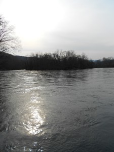The Clinch River at sunset.