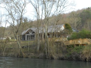 A view of their house from the river.