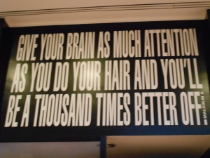 Andrew's favorite exhibit by Barbara Kruger at the Hirschhorn.