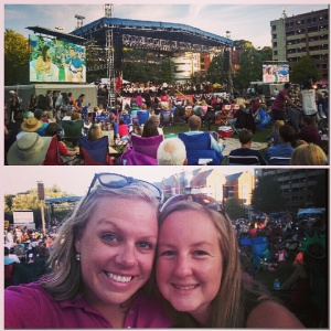 Rachel found me at the July 4th KSO concert!