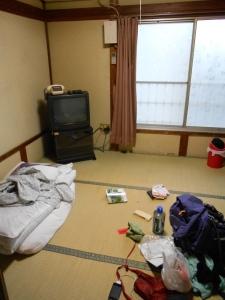 In Komatsu, I stayed at a small Japanese inn, called a ryokan.