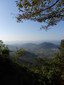 The view from the Goshikidai, a plateau where temples 81 and 82 are found.