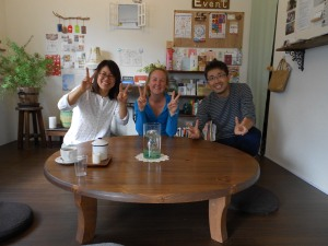 Emi-san and Yutaka-san owners of the cutest guesthouse in Takamatsu!