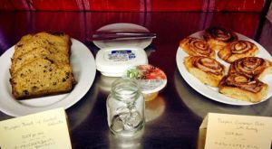 My last breakfast for Sen guests, pumpkin cinnamon rolls and pumpkin walnut bread!
